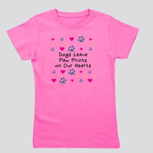 Dogs Leave Paw Prints on Our Hearts Girl's Tee