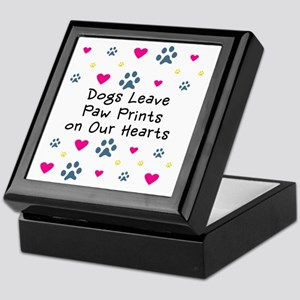 Dogs Leave Paw Prints on Our Hearts Keepsake Box