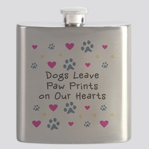 Dogs Leave Paw Prints on Our Hearts Flask