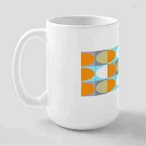 Ovals Orange Mug Large Mug