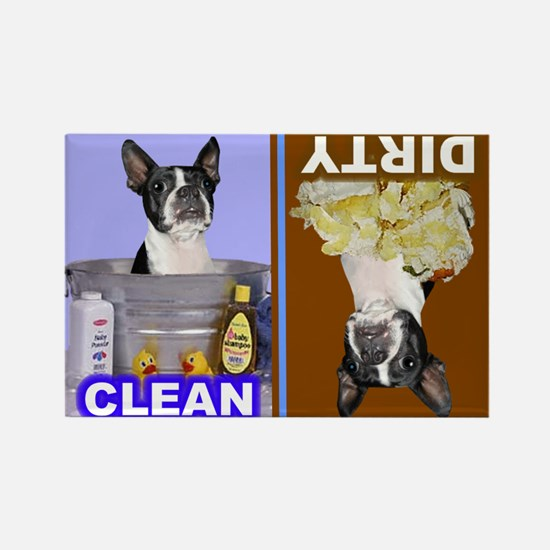 Dishwasher -RecMag -BostonTerrier,BlkWh Magnets