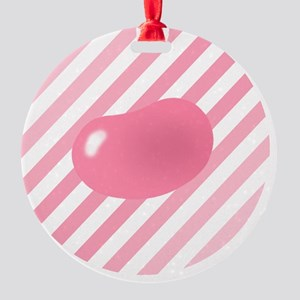big_jelly_bean_pink_stripes_b Round Ornament