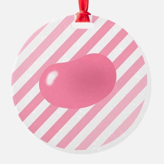 big_jelly_bean_pink_stripes_b Ornament