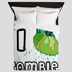 I love zombies Queen Duvet