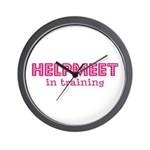 Helpmeet in training Wall Clock