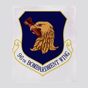 96th Bomb Wing Throw Blanket