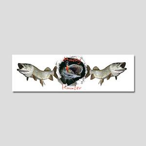 Musky hunter c Car Magnet 10 x 3