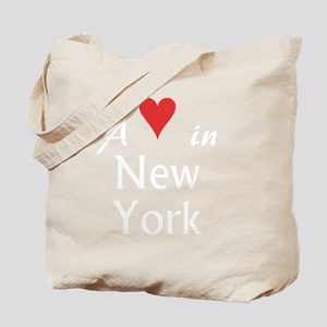 NewYork_10x10_apparel_AHeartInNY_WhiteRed Tote Bag