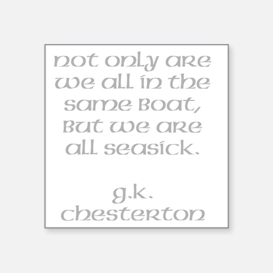 "seasick Square Sticker 3"" x 3"""