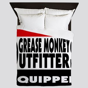 grease monkey outfitters t-shirt Queen Duvet