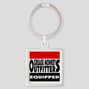 grease monkey outfitters t-shirt Square Keychain