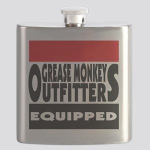 grease monkey outfitters t-shirt Flask