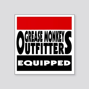 """grease monkey outfitters t- Square Sticker 3"""" x 3"""""""