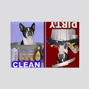 Dishwasher2 -RecMag -BostonTerrier,BlkWh Magnets