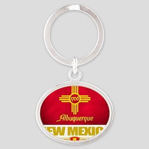 Albuquerque (Flag 10) Oval Keychain