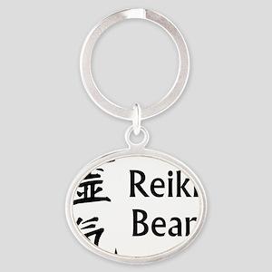 reiki_bear Oval Keychain