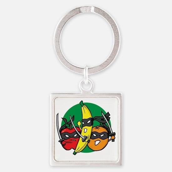 ninjafruit Square Keychain