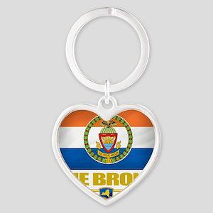 Bronx (Flag 10) Heart Keychain
