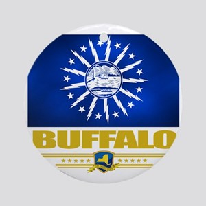 Buffalo (Flag 10) Round Ornament
