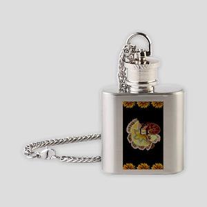 Dancer_sunflower_black_5.5x8.5 Flask Necklace