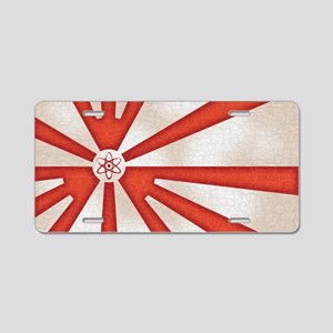 Japan-rad-flag2-OV Aluminum License Plate