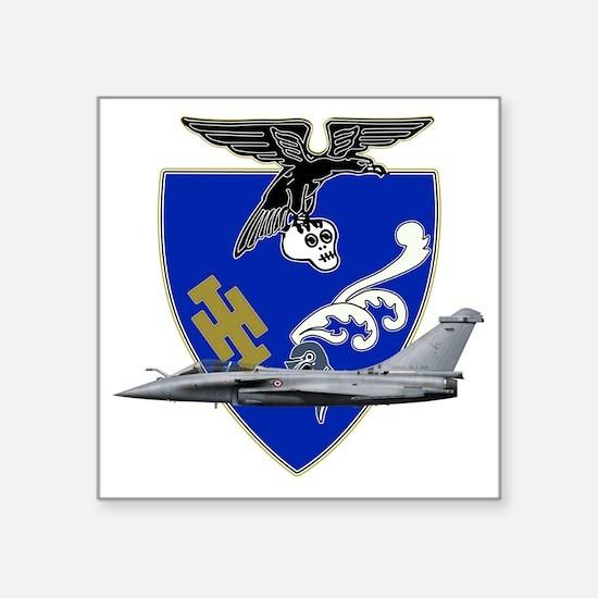 """Escadron de chasse_1.7_a_pr Square Sticker 3"""" x 3"""""""
