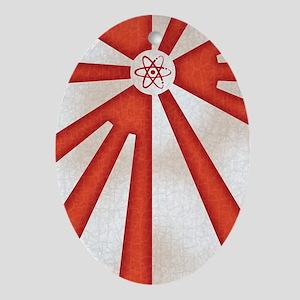 Japan-rad-flag2-iPHN Oval Ornament
