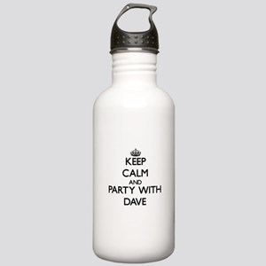 Keep Calm and Party with Dave Water Bottle