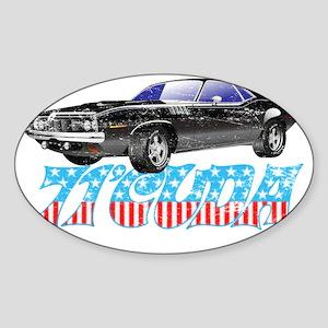 71Cuda_Distress Sticker (Oval)