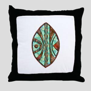 Kenya Warrior Shield 2 Throw Pillow