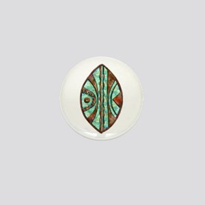 Kenya Warrior Shield 2 Mini Button
