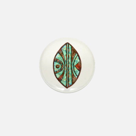 Kenya Warrior Shield 2 Mini Button