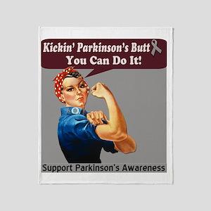 kickin Parkinsons butt Throw Blanket