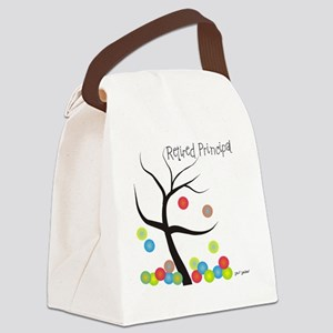 Retired Principal tree bubbles Canvas Lunch Bag