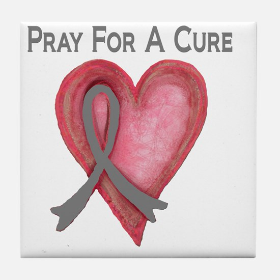 Pray for a cure 2 Tile Coaster