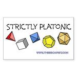 Strictly Platonic Rectangle Sticker