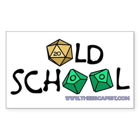Old School Gamer Rectangle Sticker