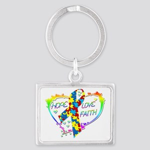 Hope Love Faith Heart copy Landscape Keychain