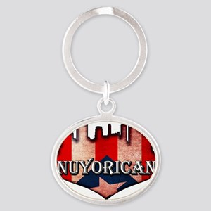 nuyorican Oval Keychain