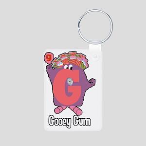 Gooey Gum Aluminum Photo Keychain