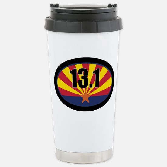 AZ-131-OVALsticker Stainless Steel Travel Mug