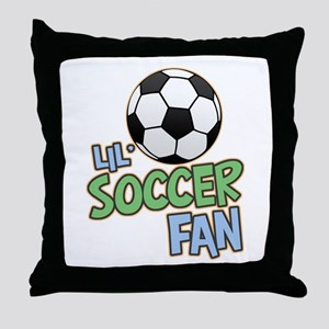 Lil' Soccer Fan Throw Pillow