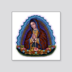 """Lady of Guadalupe T3 Square Sticker 3"""" x 3"""""""