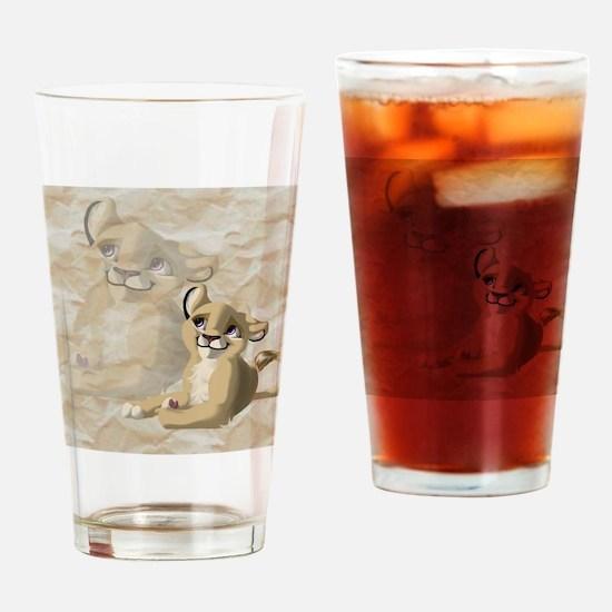 lionfriend Drinking Glass
