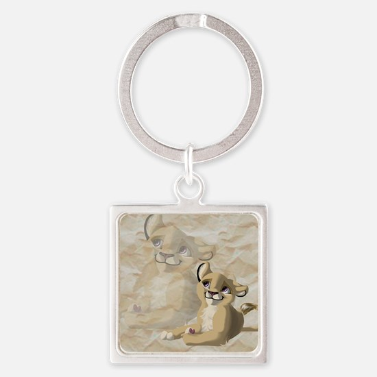 lionfriend Square Keychain