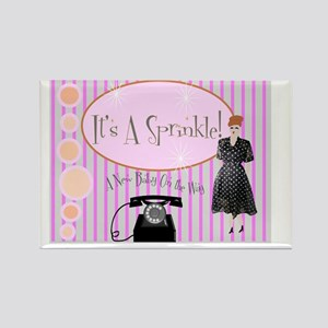 Its a sprinkle Retro Invite SMALL Rectangle Magnet