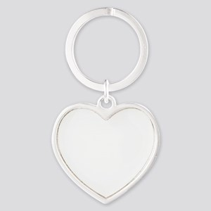CASTLE kill my patienceWHITEfont Heart Keychain