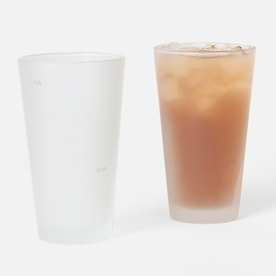 CASTLE kill my patienceWHITEfont Drinking Glass