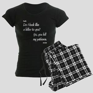 CASTLE kill my patienceWHITE Women's Dark Pajamas