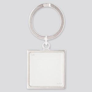 CASTLE kill my patienceWHITEfont Square Keychain